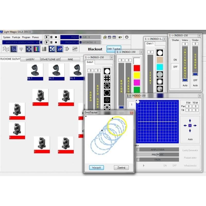 LIGHT MAGIC v3 128-512 Professional Program to control DMX