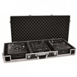 """OMNITRONIC DJ 2xCD MIKSER 10"""" CZARNY CASE"""