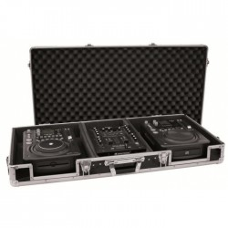 "OMNITRONIC DJ MIXER CD 2 x 10 ""BLACK CASE"