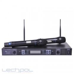 Mikrofon bezprzewodowy UHF Azusa dwukanałowy z automatycznym dostrajaniem